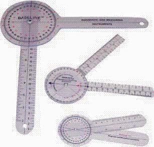 Baseline Plastic 360-Degree International Standards Of Measurement (Isom) Goniometer (Models 12-1000, 12-1001, & 12-1002)