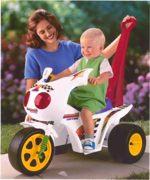Power Wheels Kawasaki Guide 'n Drive Cycle