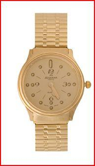 Seculus Braille Watch - Gold Face, Gold Case (Models 71009Gp & 77009Gp)