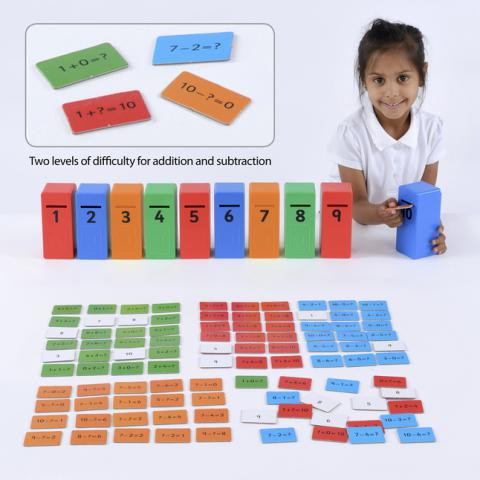 Educational Advantage Addition and Subtraction Posting Game