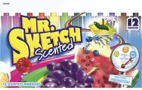 Mr. Sketch Watercolor Scented Markers, Chisel Tip, Assorted Colors, Set of 12