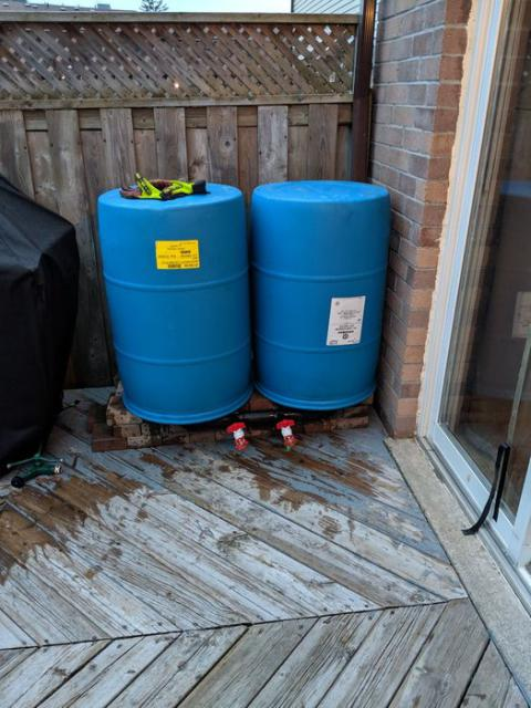 Rain Barrel for Garden Watering