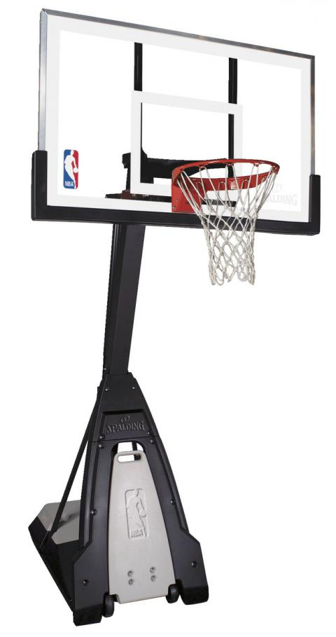 Spalding the Beast Portable Basketball System, 60 X 42 X 1/4 in, Tempered Glass Backboard