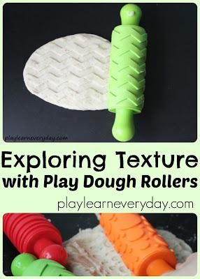 EXPLORING TEXTURES WITH PLAY DOUGH ROLLERS